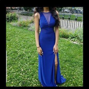 Prom dress, long blue dress